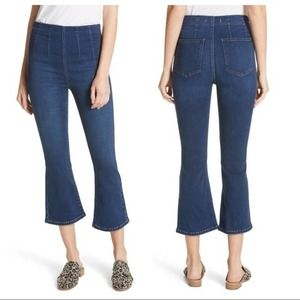 Free People High Rise Cropped Ankle Flare Jeans 25